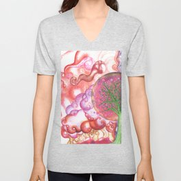 clouds (pointillism) Unisex V-Neck