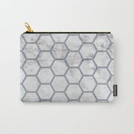 Honeycomb Marble Navy #871 Carry-All Pouch