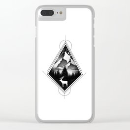 NORTHERN MOUNTAINS IV Clear iPhone Case