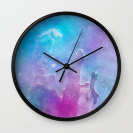 Colorful Deep Space Pillars Of Creation Wall Clock