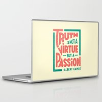 camus Laptop & iPad Skins featuring Happy 100th Birthday, Camus! by Josh LaFayette