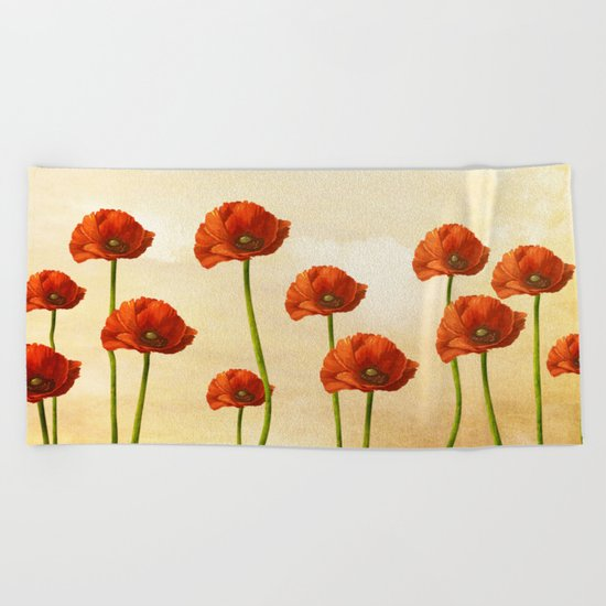 Where the Poppies Bloom Beach Towel