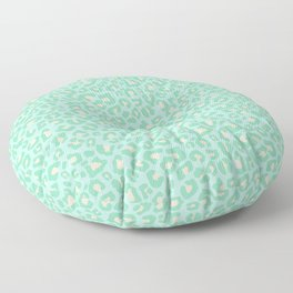 Leopard Print 2.0 - Neo Mint Floor Pillow