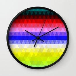 Geometric Colours Wall Clock