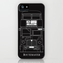 The Routemaster London Bus Blueprint iPhone Case