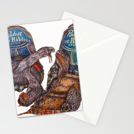 PBR PIZZA PARTY Stationery Cards