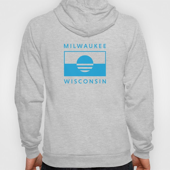 Milwaukee Wisconsin - Cyan - People's Flag of Milwaukee Hoody