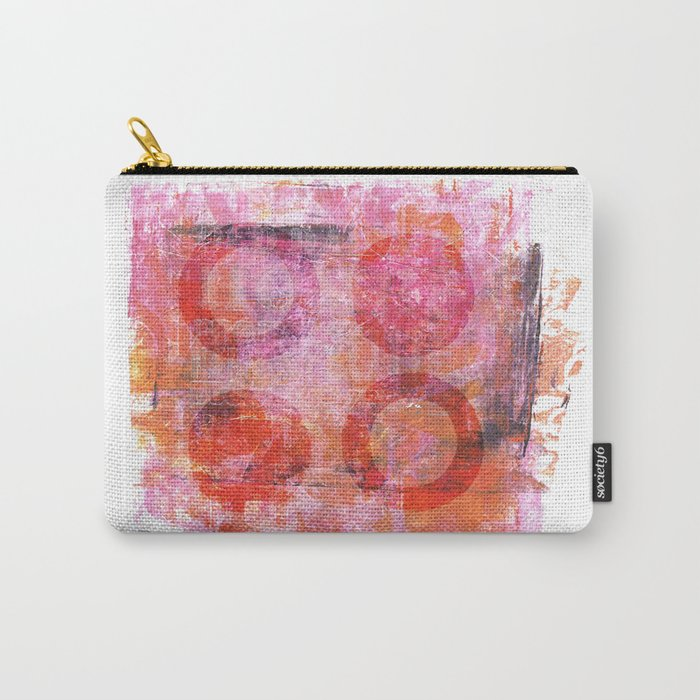 abstract circles painted artwork Carry-All Pouch