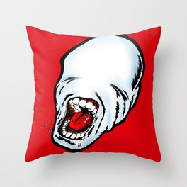 Screamer Red Throw Pillow