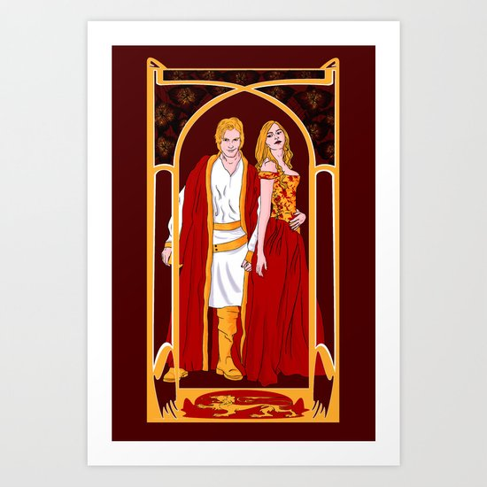 The Golden Twins Art Print