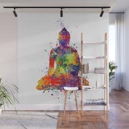 Buddha Watercolor Yoga Poster Zen decor Wall Mural