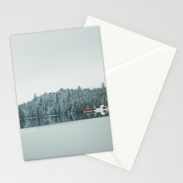 Frozen Lake in Canada Stationery Cards