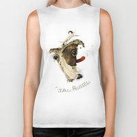jack russell Biker Tanks featuring Jack Russell by ari-s