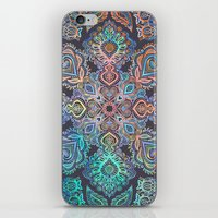 boho iPhone & iPod Skins featuring Boho Intense by micklyn