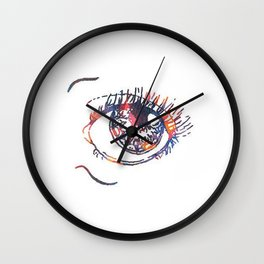 Eye Roll Purple/Orange Wall Clock