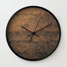 Scratched Suede Tobacco Wall Clock