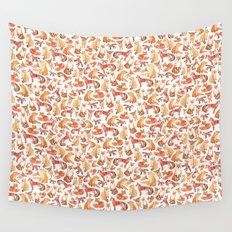 Fox Pattern Wall Tapestry