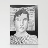 newspaper Stationery Cards featuring Newspaper Boy by Lizzie Shu
