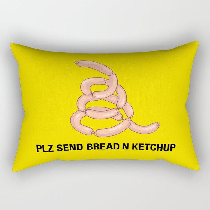 PLZ SEND BREAD N KETCHUP Rectangular Pillow
