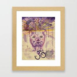 Crown Chakra - Gold Lotus Oracle Series Framed Art Print