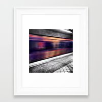 subway Framed Art Prints featuring Subway by Yancey Wells