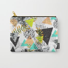 Triangles and plants Carry-All Pouch