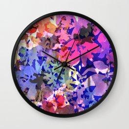 Colorful Poppy Garden Wall Clock