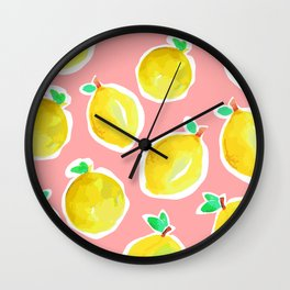 Lemon Crush 2 Wall Clock