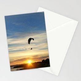 Sunset Paraglider Stationery Cards