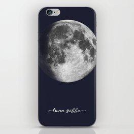 Waxing Gibbous Moon on Navy Latin iPhone Skin