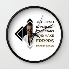 BJJ Motivational Quote Series 2/10 Wall Clock