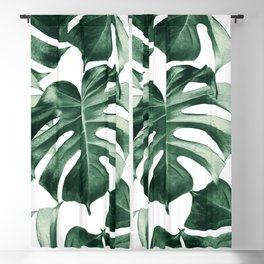 Tropical Monstera Leaves Dream #2 #tropical #decor #art #society6 Blackout Curtain