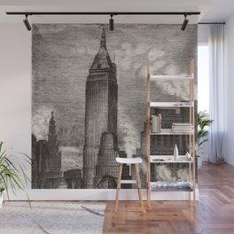 Harlem Renaissance Masterpiece 'NYC Skyscrapers' by Isac Friedlander Wall Mural