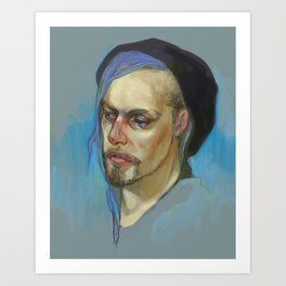 Black Hat II Art Print