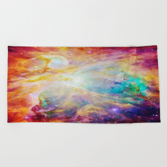 nEBula : Colorful Orion Nebula Beach Towel
