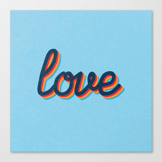 Love - blue version Canvas Print