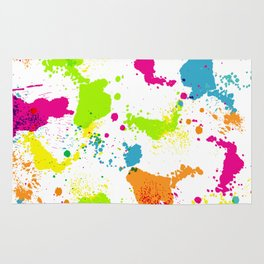 colorful paint blots Rug