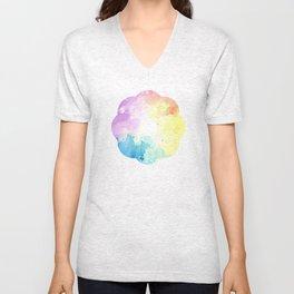 watercolor Unisex V-Neck