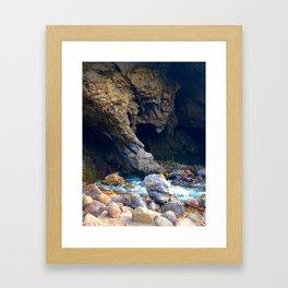 Swallowing Cavern Framed Art Print