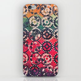 Grunge industrial pattern iPhone Skin