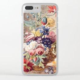"Jan van Huysum ""Flowers - Still Life"" Clear iPhone Case"