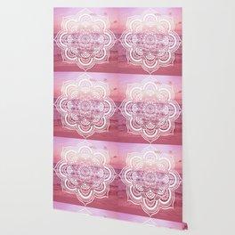 Water Mandala Pink Wallpaper