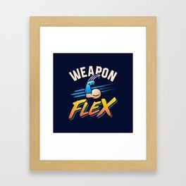 Weapon Flex Framed Art Print