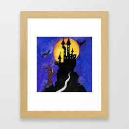 Haloween Castle Framed Art Print