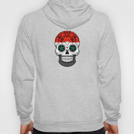 Sugar Skull with Roses and Flag of Syria Hoody