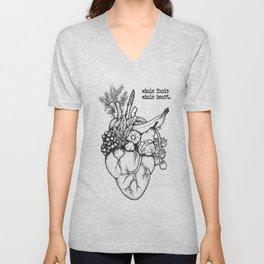 Whole foods, whole heart Unisex V-Neck