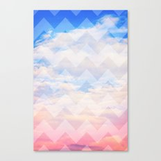Sunset Sky / Chevron Canvas Print