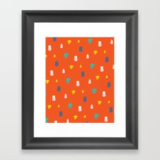 Bright and small pineapples Framed Art Print