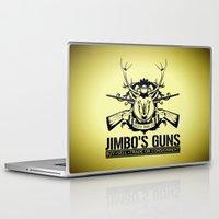 guns Laptop & iPad Skins featuring Jimbo's Guns by Silvio Ledbetter