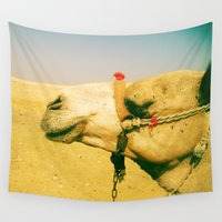 camel Wall Tapestries featuring Calm Camel by Ellen Richardson